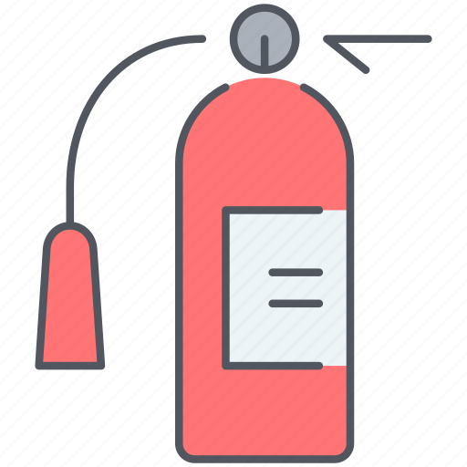 burn, danger, extinguisher, fire, fireplace, flame, security icon