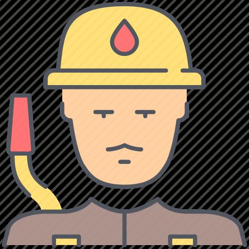 burn, burning, emergency, extinguisher, fire, fireman, flame icon