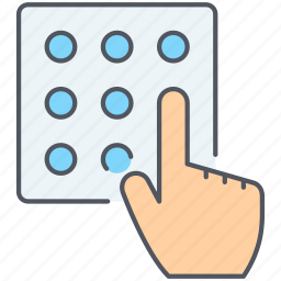 access, authentication, code, identity, passcode, pin code icon