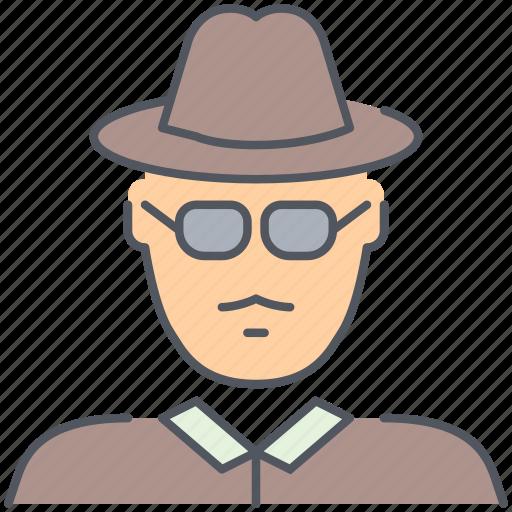 agent, cia, fbi, interpol, kgb, private, spy icon