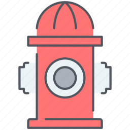 city, firefighter, pipe, safety, security, water icon