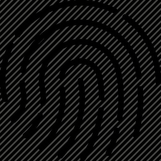 access, fingerprint, print, protection, secret, security icon