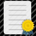 achievement, badge, business, certificate, degree, seo, success icon