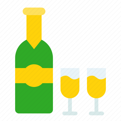 Alcoholic, beverage, champagne, drink, drinks, liquor, wine icon - Download on Iconfinder