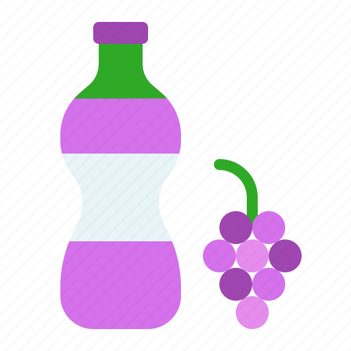 Beverage, bottle, drink, fruit, grape, juice icon - Download on Iconfinder