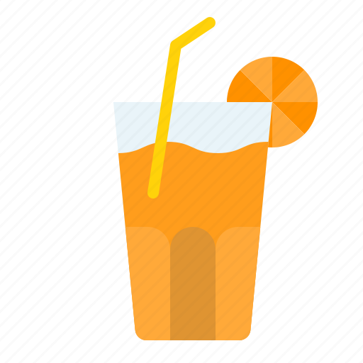 beverage, drink, juice, orange icon