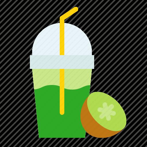 beverage, drink, frappe, fruitmdrink, juice, kiwi icon