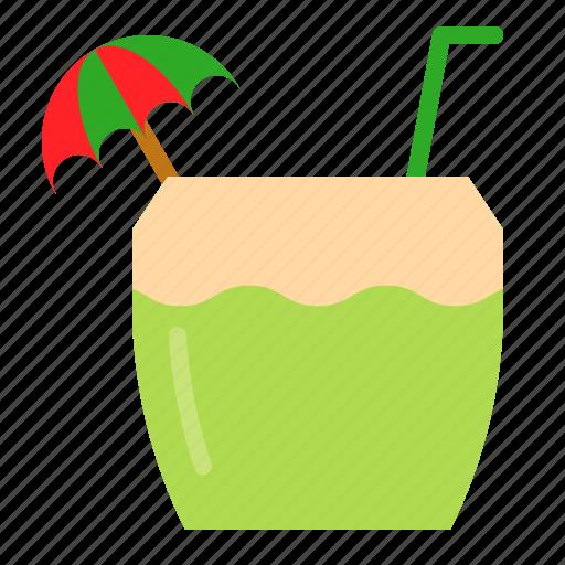 Beverage, coconut, coconut water, drink, fruit, juice icon - Download on Iconfinder
