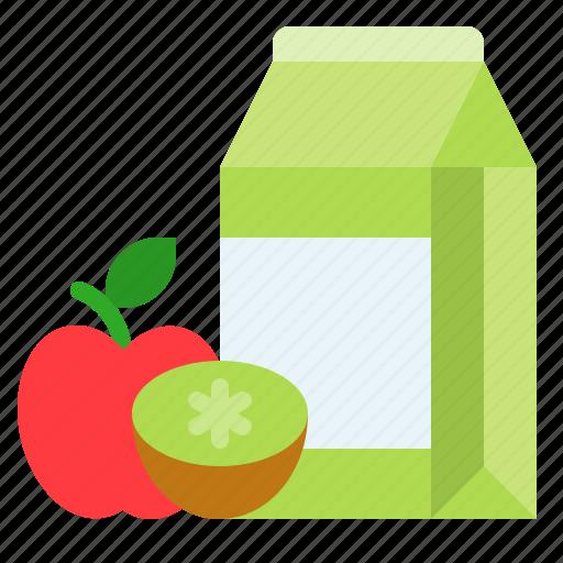 beverage, box, carton, drink, fruit, juice icon