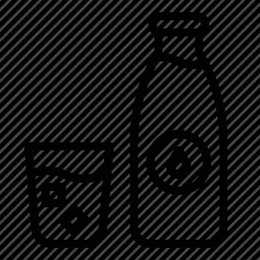 Beverage, bottle, drink, drinks, glass, water icon - Download on Iconfinder