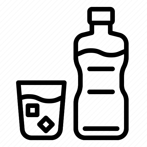 beverage, bottle, drink, drinks, glass, water icon