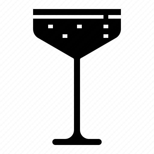 beverage, champagne, coupe, drink, glass, wine icon