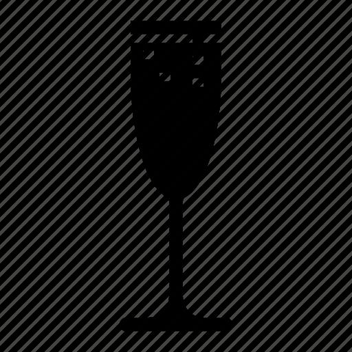 beverage, champagne, flute, glass, wine icon
