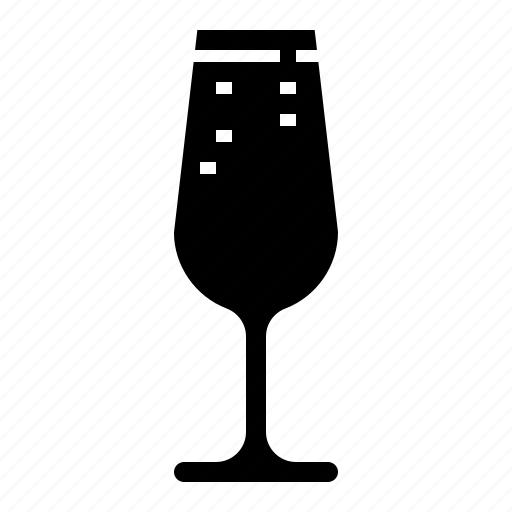 beverage, champagne, drink, flute, glass, wine icon