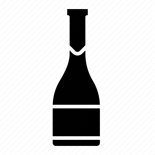 bottle, celebration, champagne, dinner, drink, wine icon