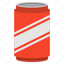 beverage, can, cola, drink, party, soda icon