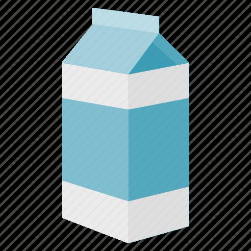 beverage, box, calcium, drink, healthy, milk icon