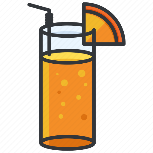 beverage, drink, glass, juice, straw icon