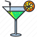 alcohol, beverage, cocktail, drink, glass, martini icon