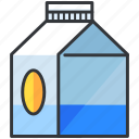 beverage, carton, drink, milk icon