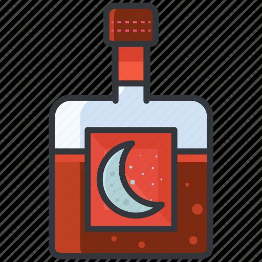 alcohol, beverage, bottle, cap, drink, night icon