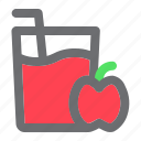 apple, beverage, drink, fruit, glass, juice icon