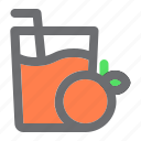 beverage, beverages, drink, fruit, glass, juice, orange icon