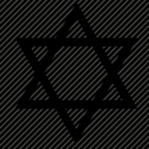 david, israel, star, worship icon