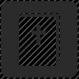 bible, book, religion, square icon