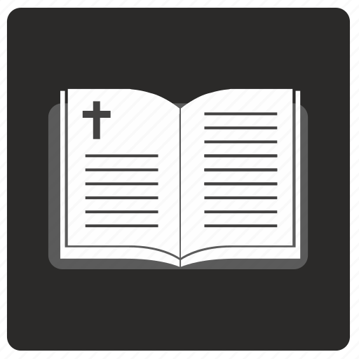 bible, book, opened, religion icon