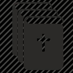 bible, book, collection, religion icon