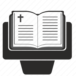 bible, book, oncathedral, opened, religion, speach, table icon