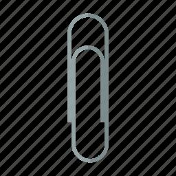 attach, attachment, clip, fasten, office, paper, paperclip icon
