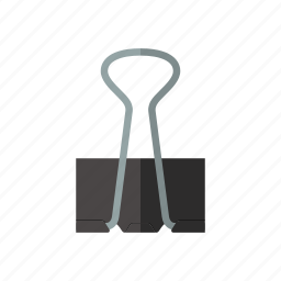 attach, binder, clamp, clip, hold, office, paperclip icon