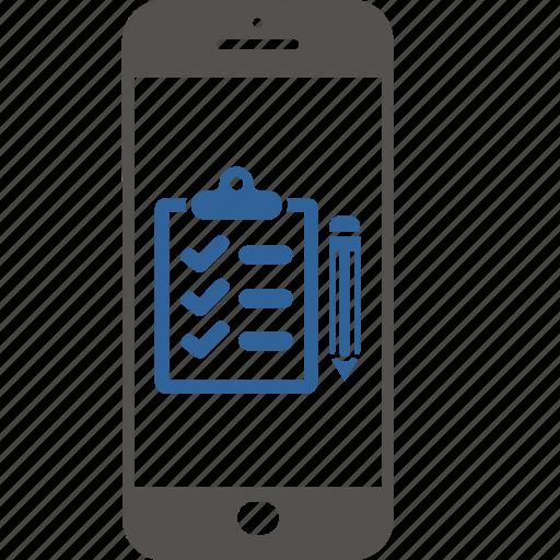business, checklist, ecommerce, internet, report, smartphone, task icon