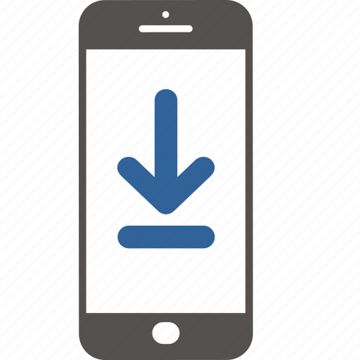 application, communication, download, internet, mobile, smartphone icon