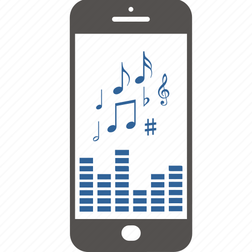 application, equalizer, internet, mobile, music, note, smartphone icon
