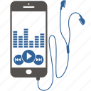 application, equalizer, internet, mobile, music, phone, smartphone icon