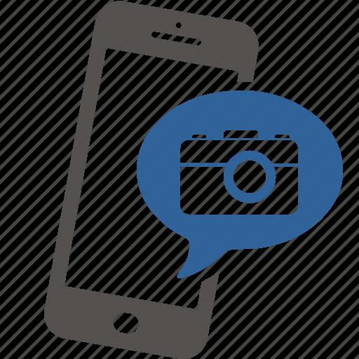 application, camera, internet, mobile, photo, picture, smartphone icon