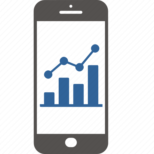 application, business, finance, graph, internet, smartphone, statistic icon