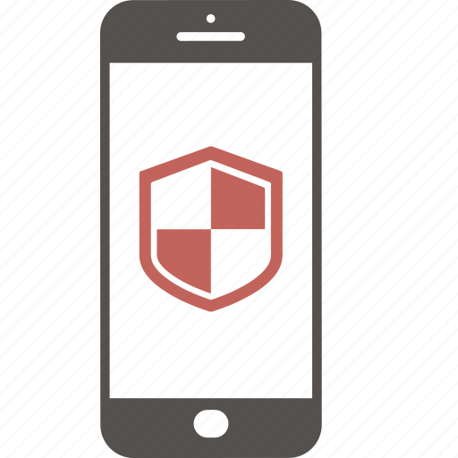 application, firewall, internet, mobile, security, shield, smartphone icon