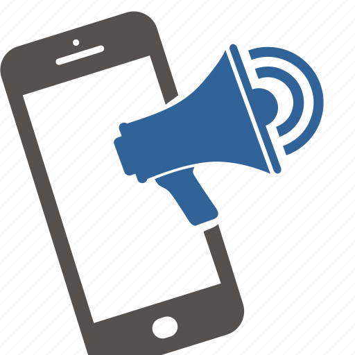 Communication, dialog, internet, media, megaphone, message, smartphone icon - Download on Iconfinder