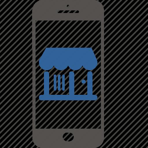 business, ecommerce, internet, shop, shopping, smartphone icon