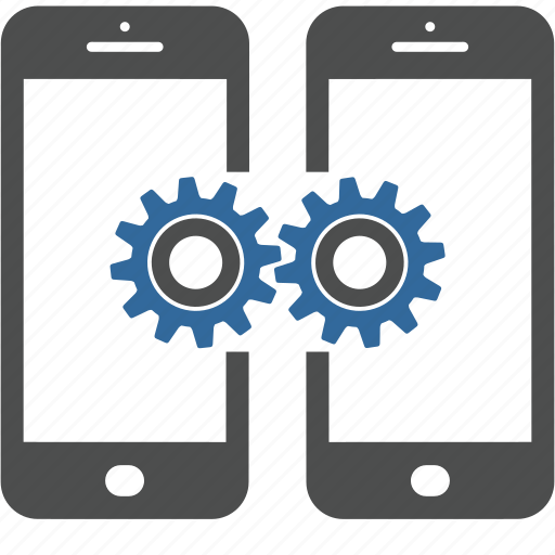 application, construction, gears, mechanism, mobile, programing, smartphone icon