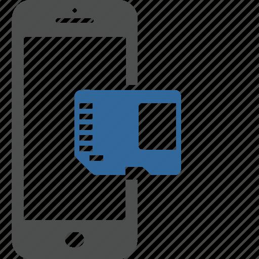 card, data, memory, micro, mobile, sd, smartphone icon