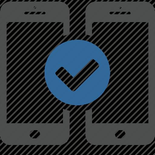 application, data, mobile, ok, smartphone, technology, transfer icon