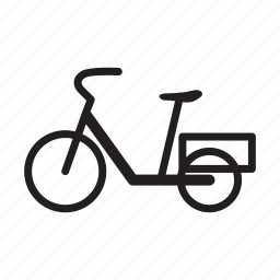 basket bike, bicycle, family bike icon