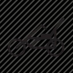 bicycle, custom bike, low rider bike icon