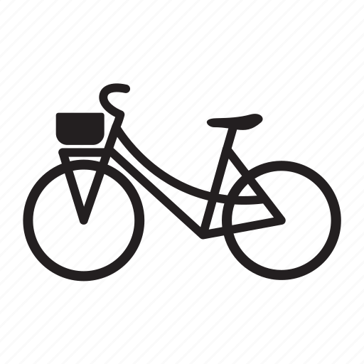 bicycle, city bike, girl bike, urban bike, woman bike icon