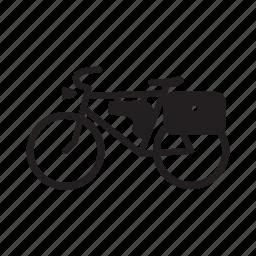 bicycle, old bike, postman bike, retro bike icon